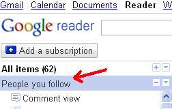 sharing in google reader