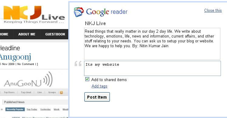 sharing in google reader4