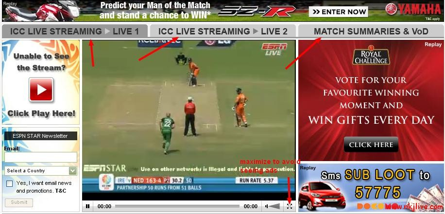 live icc cricket world cup streaming sports headline  Watch ICC Cricket World Cup 2011 Live Online