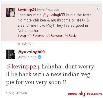 kevin pieterson yuvraj singh twitter sports  Yuvi, KP in a Public One ON One