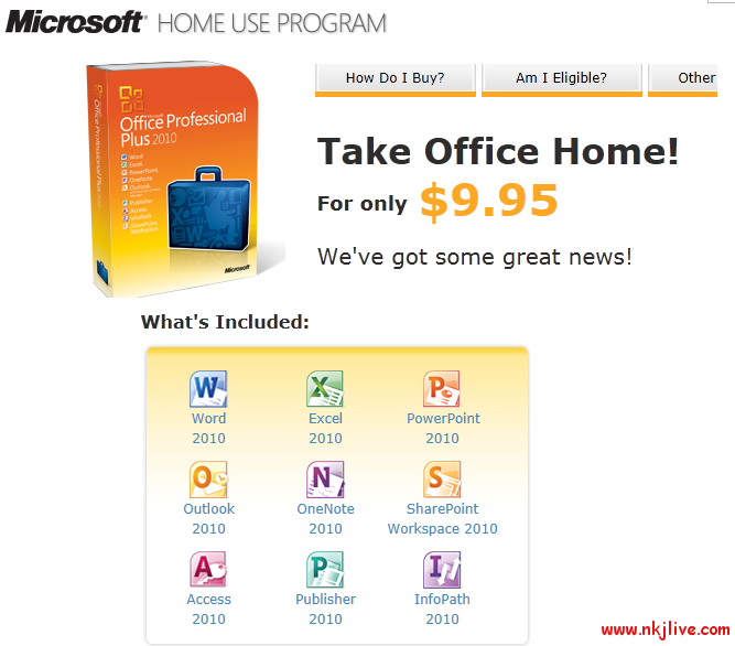 ms home use program microsoft  Microsoft Office 2010 for Only $9.95