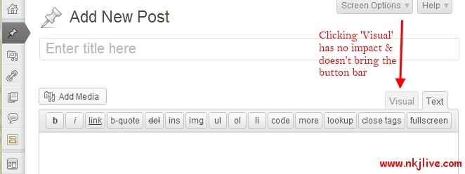 visual-editor-not-working-wordpress