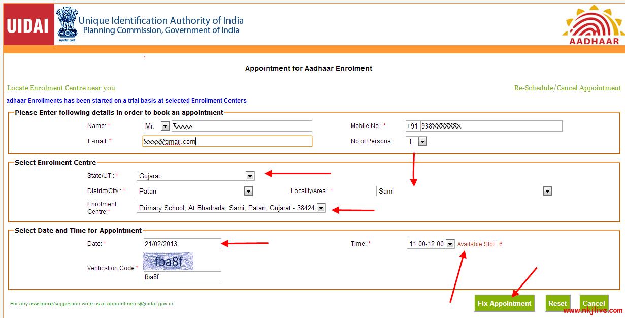 book-online-aadhaar-enrollment-appointment